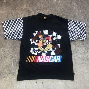 Vintage 1995 Looney Tunes Taz Nascar T-Shirt